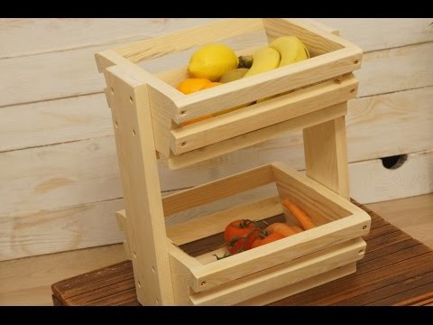 DIY Fruit.Veggie Storage Rack  - Koszyk na owoce i warzywa