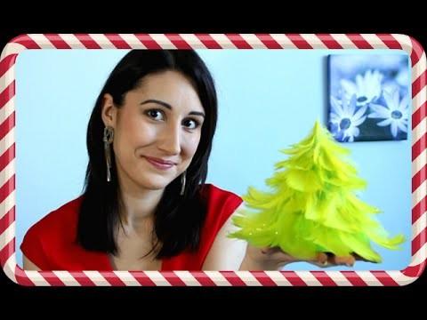 Jak zrobić choinkę z piórek  Świąteczne DIY