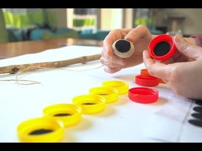 Wędka DIY na rzepy, zabawa edukacyjna dla dzieci