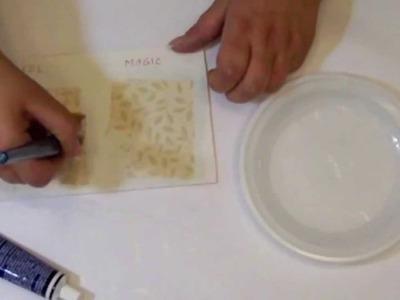 Przyklejanie serwetek decoupage - czym przyklejać serwetki