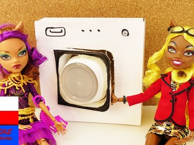 DIY International | pralka dla Barbie albo lalek Monster High | meble dla lalek