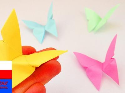 DIY International | Motylek z origami | kolorowa wiosenna dekoracja