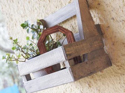 Hanging shelf for flowers. Wisząca półka na kwiatki. DIY