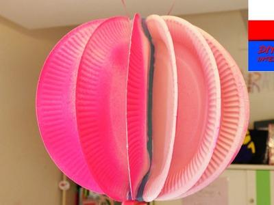 DIY International | dekoracja do pokoju | różowa kulka jako lampion