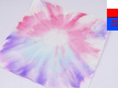 DIY International | eksperyment z kolorami na chusteczce do nosa | farbujemy chusteczkę