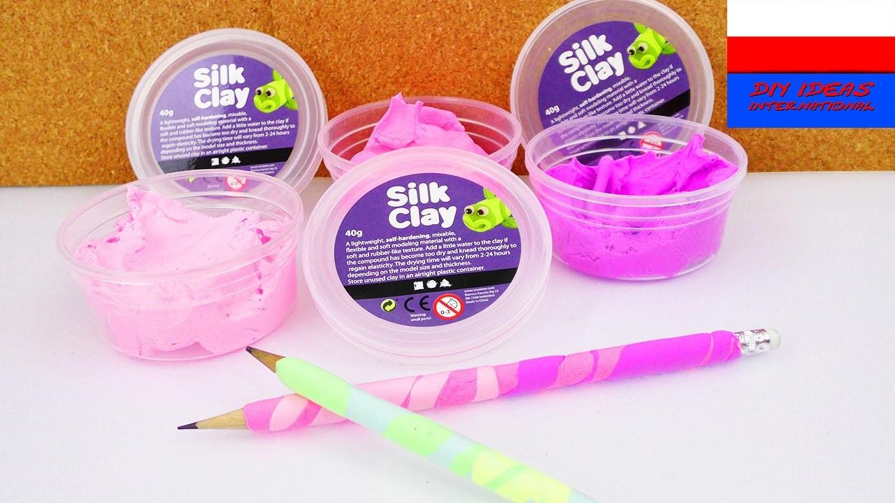 DIY International | ołówek z jedwabną plasteliną | DIY ołówek Silk Clay | świetny