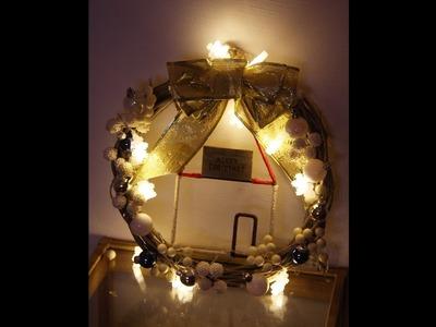 DIY Christmas Decor - wieniec na drzwi lub okno
