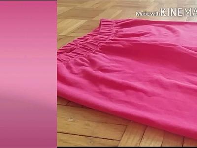 DIY|Crop Top jednym cięciem z legginsów!