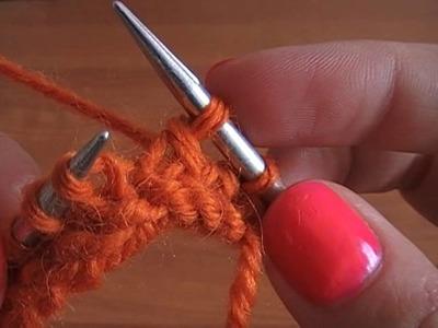No 4# 2 oczka łączone razem na prawo na drutach - How to Knit - Absolute Beginner Knitting