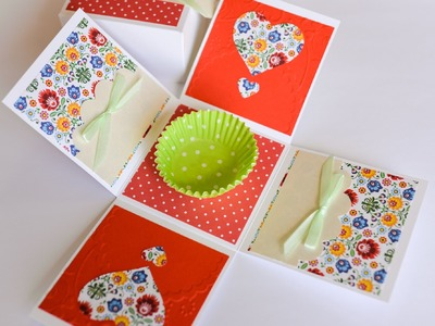 How to Make - Exploding Box Surprise Gift Wedding Birthday - Step by Step | Eksplodujące Pudełko