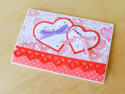 How to Make - Greeting Card Wedding Marriage Heart Birthday - Step by Step | Kartka Okolicznościowa
