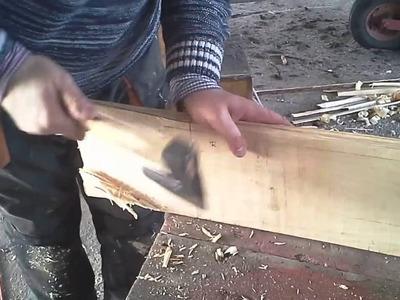 How to Repair Wooden Boat - Ciosanie ręczne połączenia uciosowego