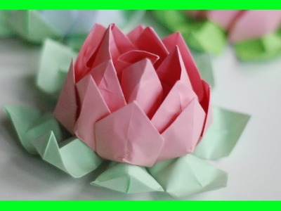 Jak zrobić Kwiat Lotosu Origami. How to make an Origami Lotus Flower