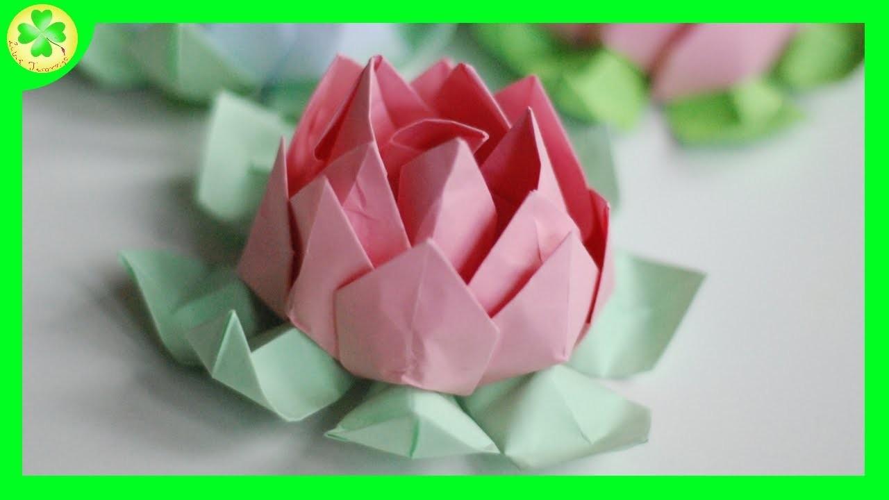 jak zrobi� kwiat lotosu origami how to make an origami