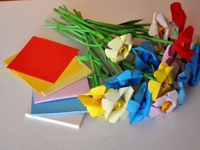 Kwiaty z papieru  krok po kroku 1 # How to make paper flowers# DIY