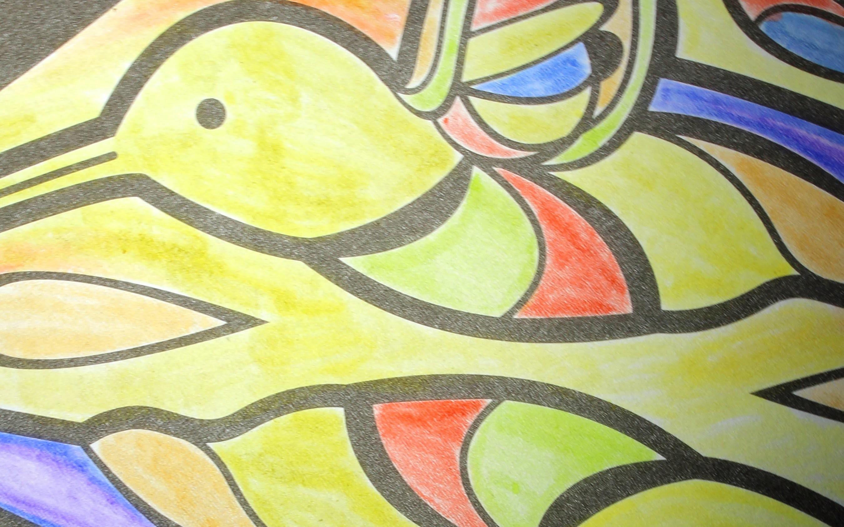 DIY Colorino Kids Książeczka Kolorowe witraże
