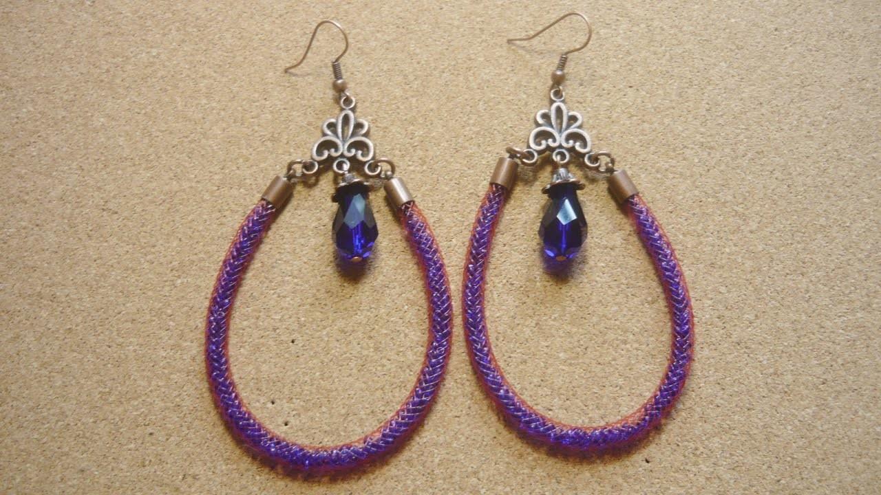 Kolczyki z siatki jubilerskiej ★ TUTORIAL DIY ★ [#10] Kurs tworzenia biżuterii od podstaw