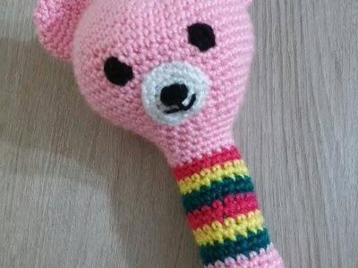 No 33# grzechotka dla dziecka na szydełku - crochet maracas amigurumi for baby