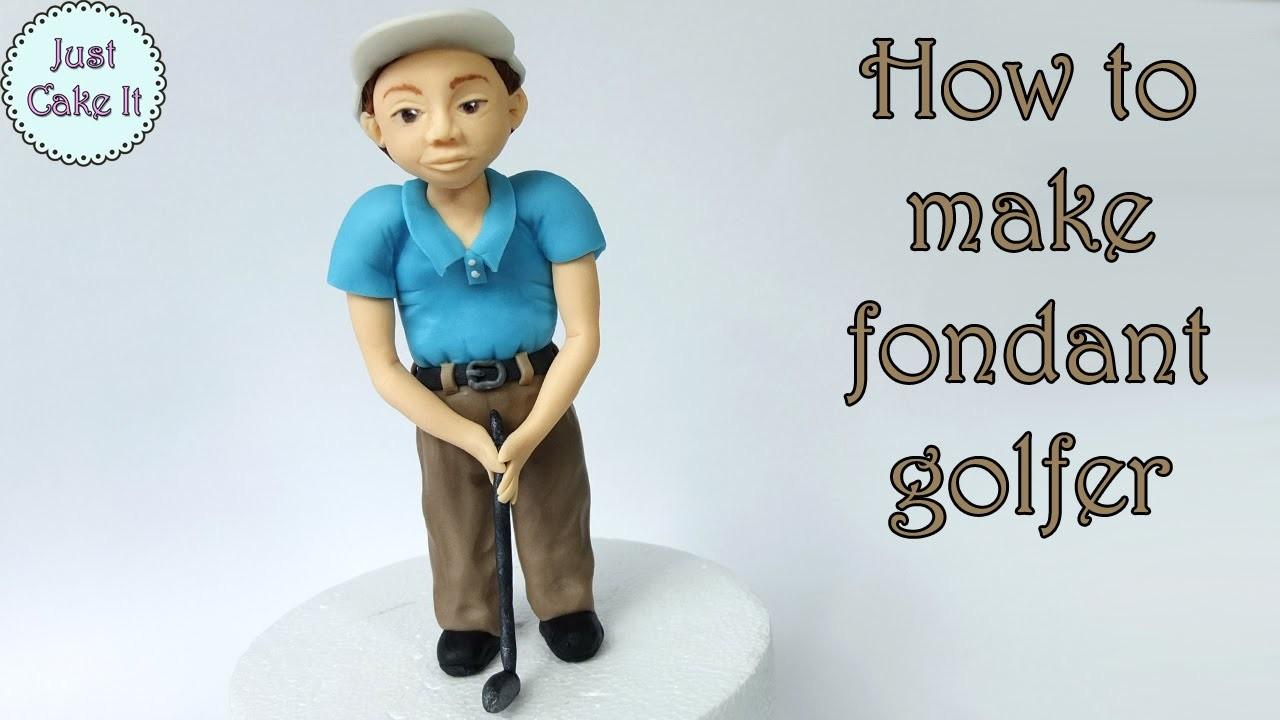 How to make fondant golfer. Jak zrobić figurkę golfiarza z masy cukrowej