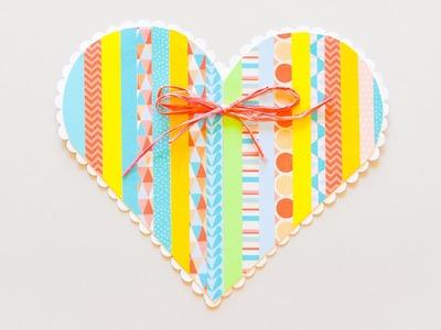 How to Make - Greeting Card Heart - Step by Step | Kartka Okolicznościowa Serce