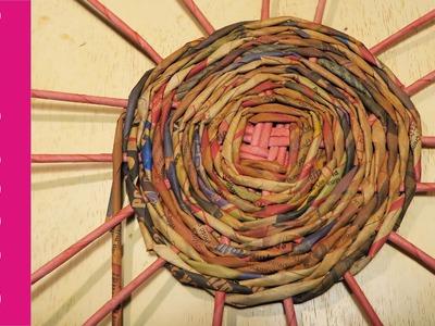 Okrągłe dno do koszyka z papierowej wikliny? #4 (round bottom, wicker paper)