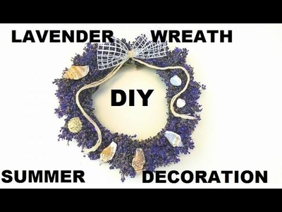 DIY lawendowy ogród, lavender wreath, Decor Easy & Affordable