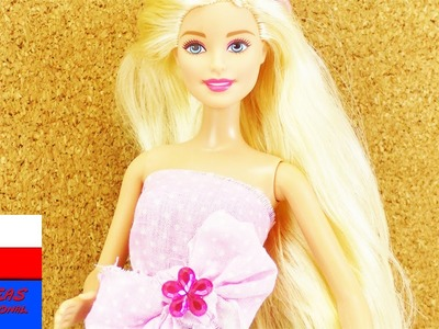 DIY Moda dla Barbie | elegancki top dla lalki Barbie | z kokardą i kwiatkiem