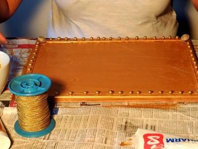 Jak zrobić wieszak na kolczyki z odnowionej tablicy korkowej DIY. Odnawianie. home decor