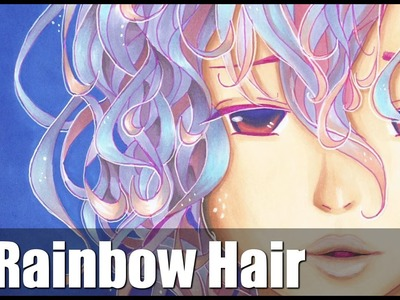 ✎ Rysunek #19 - Rainbow Hair