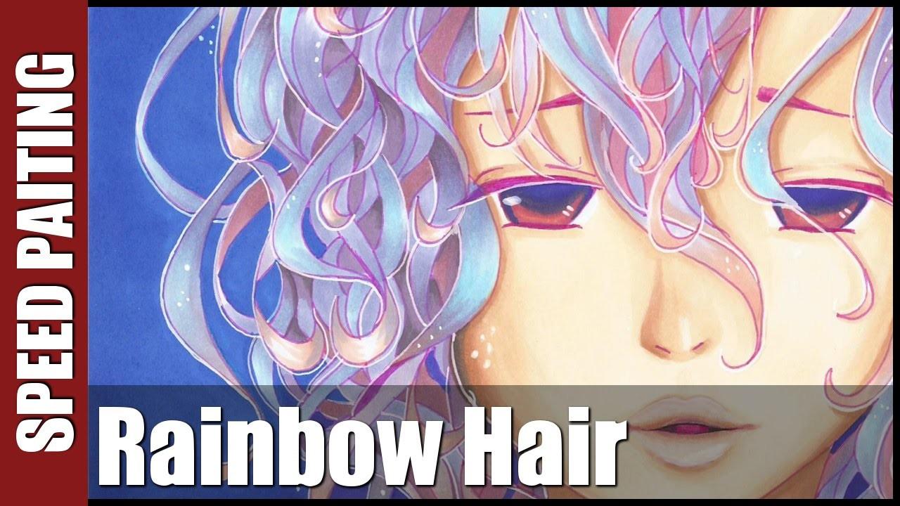 ✎ Rysunek #19 - Rainbow Hair