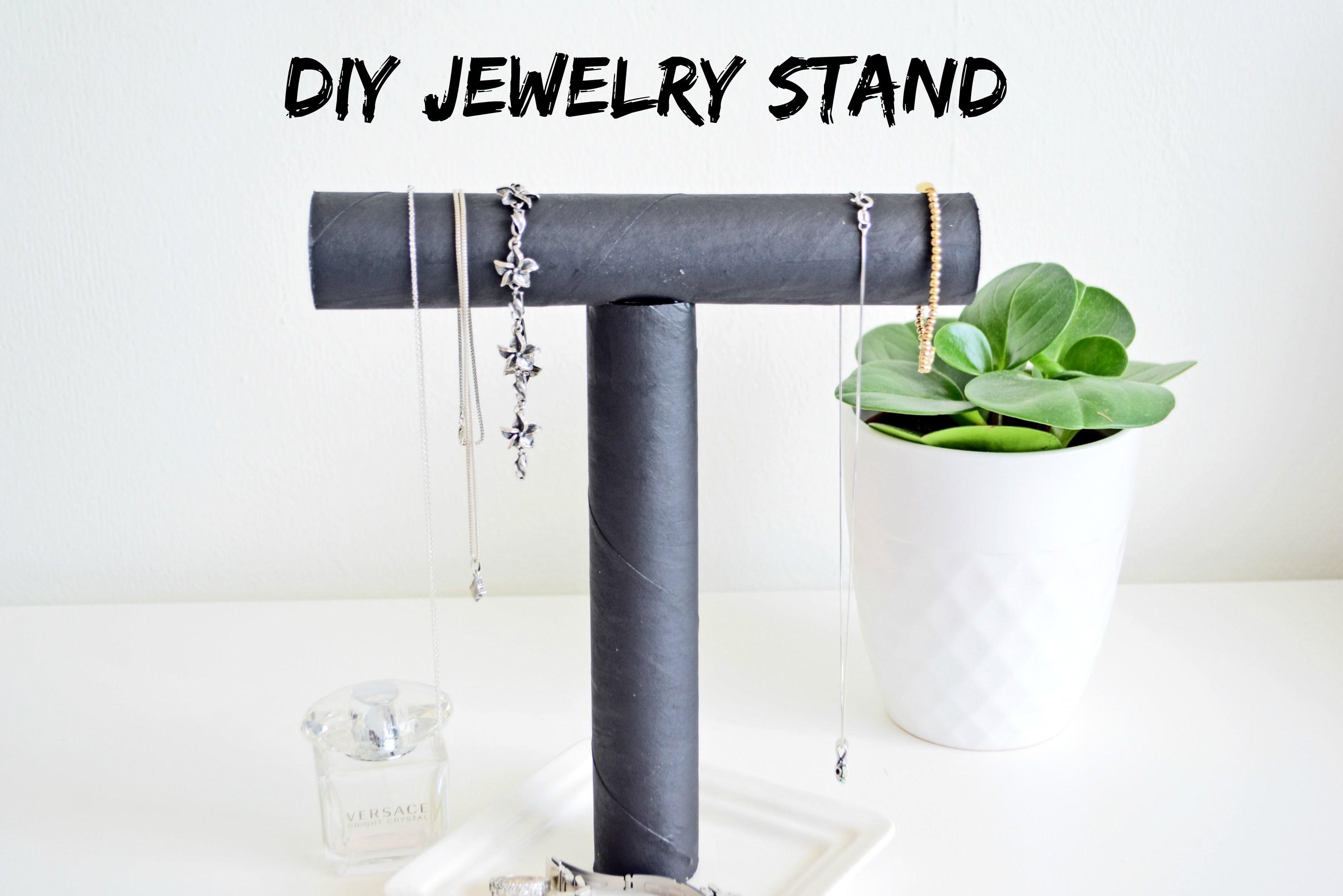 Jak zrobić stojak na biużuterię DIY Jewelry Stand   Cleo-inspire