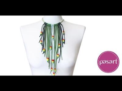 Naszyjnik dla fanek reggae - kurs biżuterii DIY