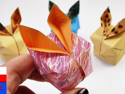 DIY International | zajączki wielkanocne  z origami | urocze zające w 3D jako wiosenna dekoracja