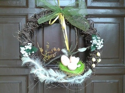 DIY zajączek Wielkanocny , jak zrobić wianek na drzwi,wiosenne dekoracje ,Easter rabbit