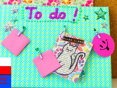 "DIY tablica z podobrazia | lista ""to do"" 