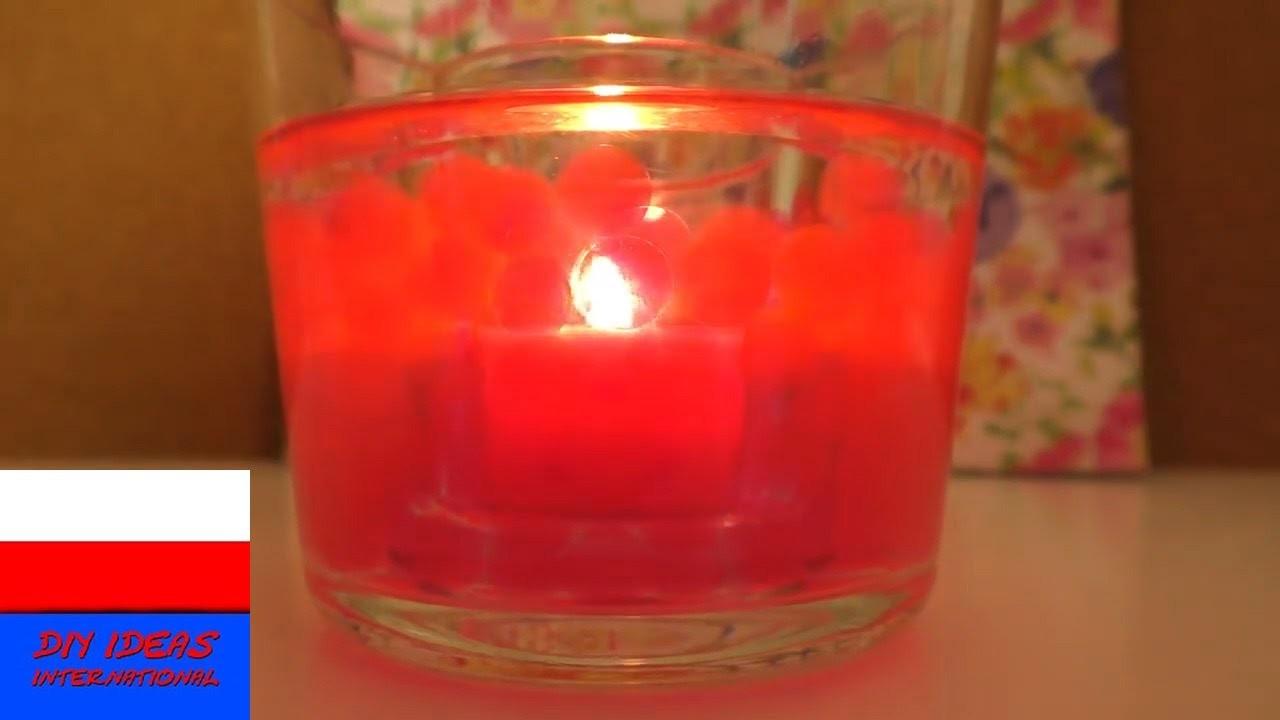 DIY Inspiration | Wyzwanie #72 kuleczki Orbeez | świeczka w wodzie