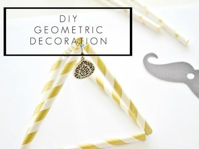Geometryczna Dekoracja ze Słomek DIY | Cleo-inspire Blog Wnętrzarski.