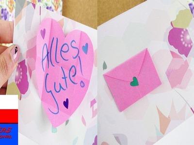 DIY kartka urodzinowa z kopertą | prosty pomysł | niespodzianka