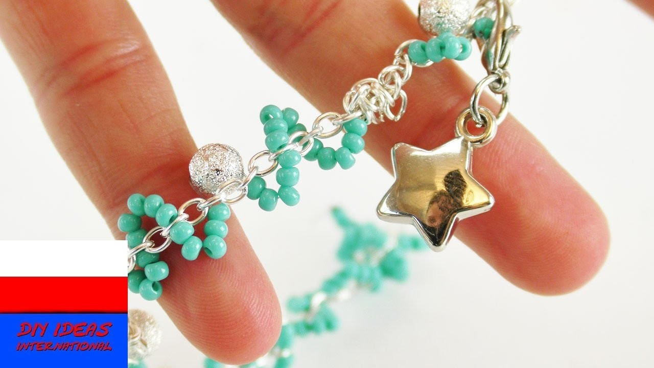 DIY biżuteria | bransoletka z łańcuszka i koralików | dla przyjaciółki