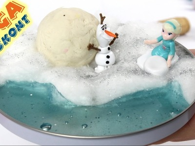 DIY: How to make frozen Elsa`s Island?. Jak zrobić Mroźną Wyspę Elsy? - Frozen & Slime & Play-Doh