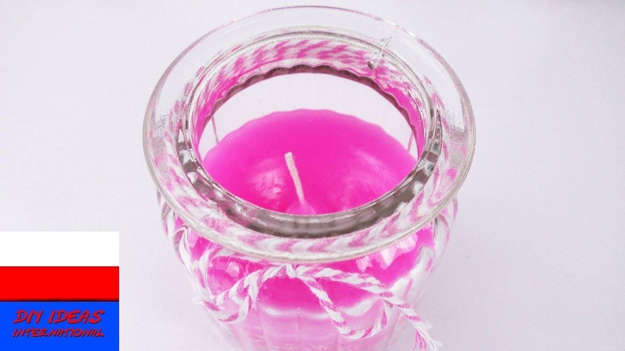 DIY Inspiration wyzwanie #76 | DIY świeczki | farbowanie świeczki