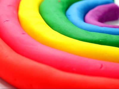 DIY - Kolorowa Tęcza. Colorful Rainbow - Zrób to sam!. Make it Yourself! - Play-Doh