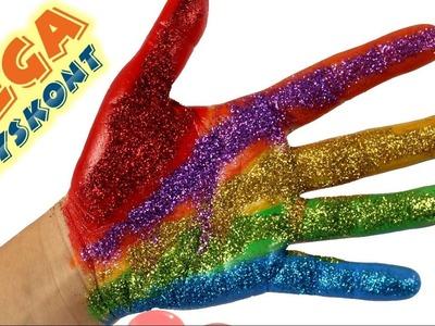 DIY - How to Make Glitter Hand?. Jak zrobić Brokatową Dłoń? - Zrób to sam!