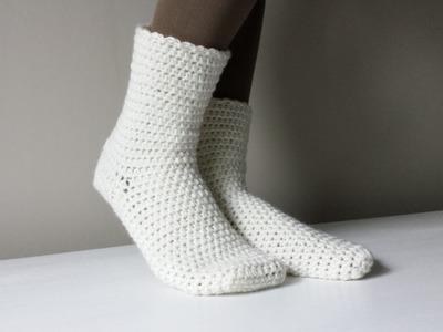 Jak zrobić skarpetki na szydełku 1.2 crochet socks