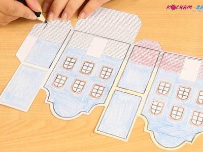 Kreatywne Kolorowanki - Obudź w sobie Artystę! - Wykonaj Sam Domek z Papieru. Paper House