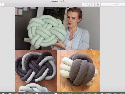 DIY Supełkowa poduszka na kilka sposobów?