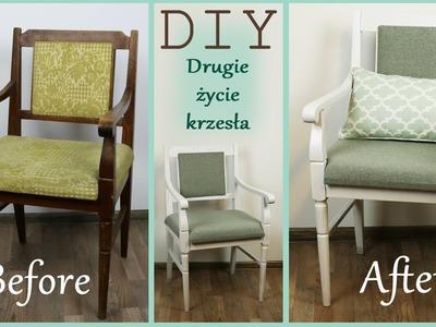 DIY * Metamorfoza starego krzesła