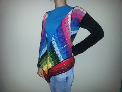 Kardigan na szydełku sweter kardigan 1.2