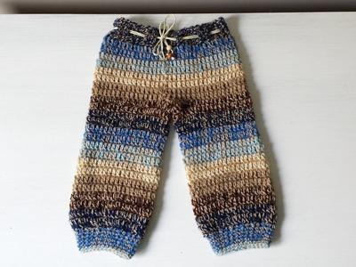 Spodenki na szydełku dla niemowlaka spodnie dla dziecka