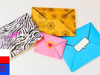 Koperta origami | prosty sposób na zrobienia koperty | koperta na kartki, drobiazgi